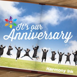 Harmony Ink Celebrates Our Third Anniversary!